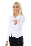 игрушка плоскости удерживания коммерсантки Стоковая Фотография