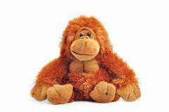 игрушка плюша обезьяны стоковая фотография rf