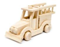 Игрушка пожарной машины деревянная Стоковые Фото