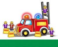 Игрушка пожарной машины Иллюстрация цифров иллюстрация вектора