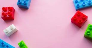 игрушка покрашенная кирпичами Стоковая Фотография RF