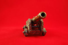 игрушка полевой пушки стоковое изображение