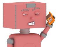 игрушка робота мобильного телефона Стоковые Фото