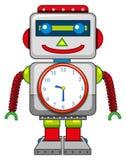 Игрушка робота на белой предпосылке иллюстрация вектора