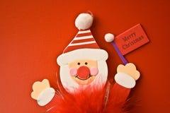 игрушка рождества 3 веселая красная Стоковые Фото