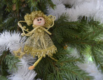 Игрушка рождества в форме ангела Стоковое Фото