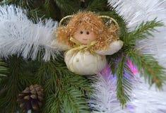 Игрушка рождества в форме ангела Стоковые Изображения