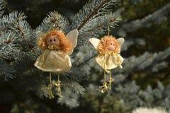 Игрушка рождества в форме ангела Стоковое фото RF