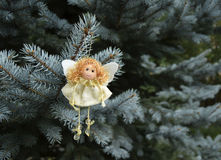 Игрушка рождества в форме ангела Стоковые Фотографии RF