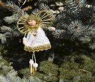 Игрушка рождества в форме ангела Стоковые Фото