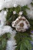 Игрушка рождества в форме дома Стоковое фото RF