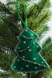 Игрушка рождества - ель Стоковая Фотография