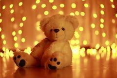 Игрушка рождества плюшевого медвежонка Стоковое Изображение