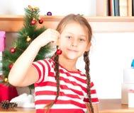 Игрушка рождества - шарик на строке Стоковое Изображение