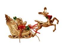 игрушка розвальней santa рождества Стоковое Изображение RF