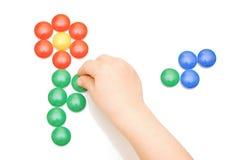 игрушка руки кнопки Стоковое Изображение RF