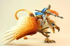 Игрушка рыцаря грифона Стоковые Фото