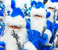 Игрушка Санта Клауса в супермаркете Стоковые Изображения