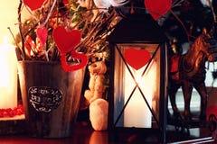 Игрушка свечи сердца валентинки Стоковая Фотография RF