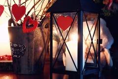 Игрушка свечи сердца валентинки Стоковое фото RF