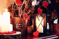 Игрушка свечи сердца валентинки Стоковые Фотографии RF