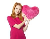 игрушка сердца девушки Стоковая Фотография