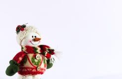 Игрушка снеговика изолированная на белой предпосылке Стоковая Фотография
