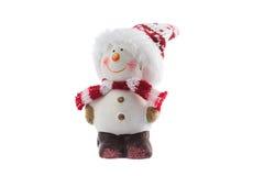 Игрушка снеговика рождества изолированная на белой предпосылке Стоковое Фото