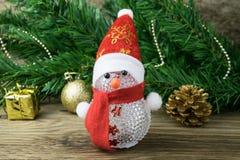 Игрушка снеговика рождества и украшения рождества Стоковое Фото