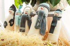 Игрушка снеговика handmade Стоковые Изображения RF