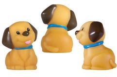 Игрушка собаки изолированная на белизне Стоковое Фото