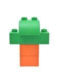 Игрушка строительных блоков детей штабелированная как робот Стоковое Фото