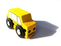 Игрушка такси деревянная Стоковое фото RF