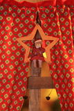 Игрушка украшения рождества и Нового Года декоративная в ретро стиле Стоковая Фотография