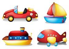 Игрушка установленная в красный цвет и желтый цвет бесплатная иллюстрация