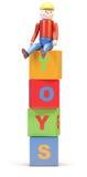 игрушка человека кубиков бесплатная иллюстрация