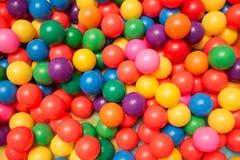 игрушка шариков цветастая пластичная Стоковые Фото