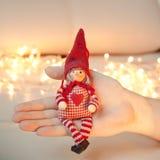игрушка эльфа рождества Стоковая Фотография