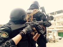Игрушка Spetsnaz воюя внутри Стоковая Фотография RF