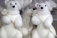 Игрушки белого медведя Стоковые Фотографии RF
