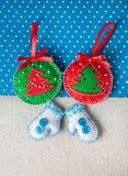 Игрушки войлока рождества Стоковые Изображения RF