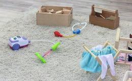 Игрушки в комнате детей Стоковые Изображения