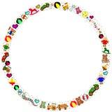игрушки граници круглые Стоковые Изображения