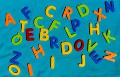 Игрушки детей писем алфавита красочные Стоковая Фотография