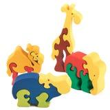 Игрушки животного цвета деревянные Стоковое Изображение RF