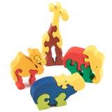 Игрушки животного цвета деревянные Стоковые Фотографии RF