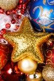 игрушки звезды различного золота рождества великолепные Стоковое Фото