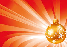 игрушки золота рождества Стоковое фото RF