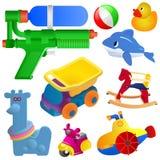 игрушки иконы младенца установленные иллюстрация штока