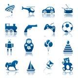 игрушки иконы установленные Стоковое Изображение